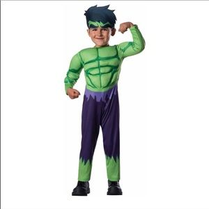 Hulk Muscle Chest Toddler Halloween Costume 2T-3T
